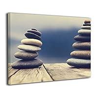 Skydoor J パネル ポスターフレーム 禅 石 インテリア アートフレーム 額 モダン 壁掛けポスタ アート 壁アート 壁掛け絵画 装飾画 かべ飾り 30×20