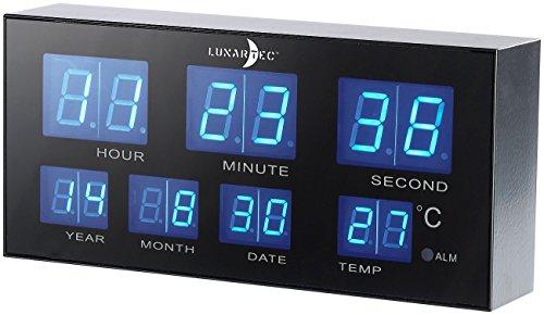 Lunartec Kompakter Multi-LED-Wecker, Blaue LEDs