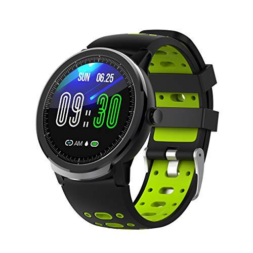 NORTH EDGE Smartwatch Android iOS Bluetooth Touchscreen hartslagmonitor bloeddrukmeting informatie anti-Lost stappenteller oproepherinnering slaaptracker, Einstellbar, lichtgroen
