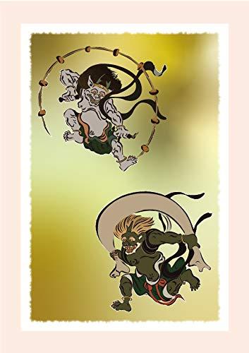 和柄絵はがき【風神雷神】( POSTCARD ) (サイズ:100 x 148mm 大礼紙厚口180k 厚み:0.26mm)日本製 (6)