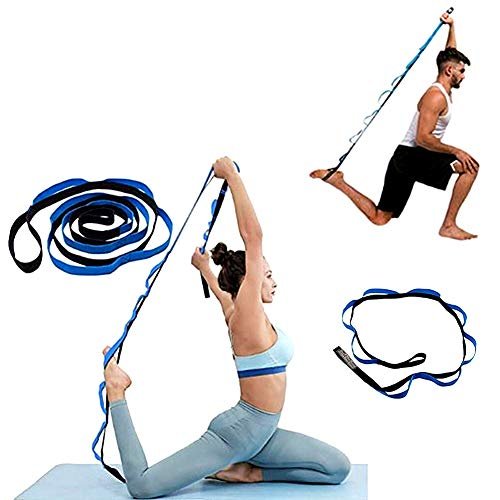 WowDude Latest Non-Elastic Adjustable Stretching Straps Hamstring Stretcher Device Pilates Equipment for Home Workouts Exercise Band Leg Exercise Equipment Yoga Equipment for Home workouts-10 Loops by WowDude