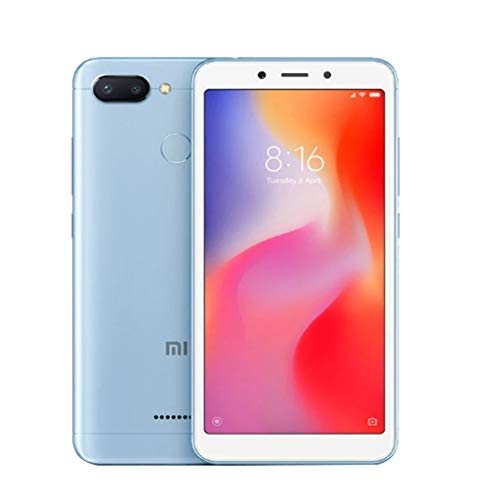 Xiaomi Redmi 6 64GB ROM 3GB RAM Dual Camera Dual SIM gsm Factory Unlocked Smartphone International Global 4G LTE Version (64GB, Azul)