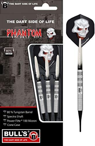 BULL'S Phantom Pt1 Soft Dart 18g, Silber