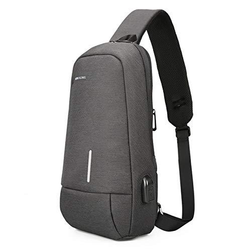 Mode Sling Tas Borst Schouder Rugzak Crossbody Tassen Met USB Opladen Poort Voor Mannen Vrouwen Reizen Buiten Zakelijke Fietsen Reizen Buiten Sport