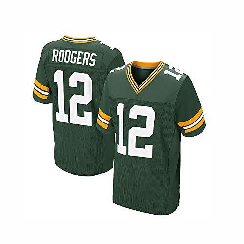 Green Bay Packers 12 Rogers National Football League Zweite Generation Legendäre Herren-Trikots Fußballbekleidung Bestickte Elite Edition American Football Wear Atmungsaktives Sweatshirt S-XXXL
