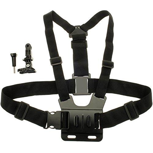 Optix Pro U6297 -Brust Halterung Körper Gurt Geeignet für Action Cams/GoPros -Schwarz