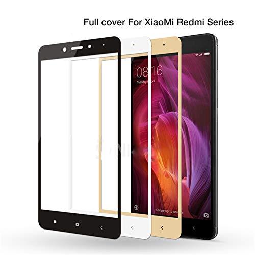 PmseK - Pellicola proteggi schermo in vetro temperato, per Redmi 4X Full Cover in vetro temperato per Redmi 4A 3S 3X 4 Note 3 4 Pro 4Pro Note 4X Screen Protector per Xiaomi Mi Note 3 Oro