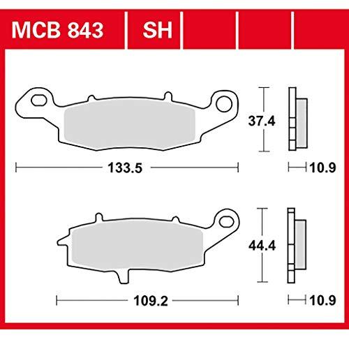 Bremsbelag TRW organischer Allround-Bremsbelag VZR 1800 Intruder M1800R WVCA 06-17 hinten