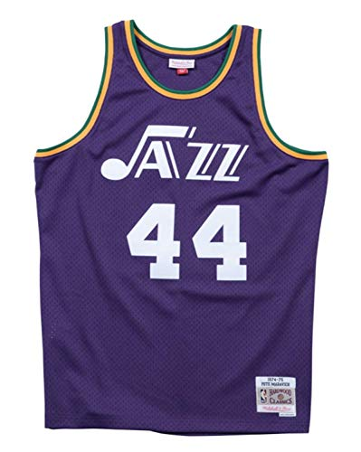 Mitchell & Ness Pete Maravich New Orleans Jazz NBA Swingman 74-75 HWC Jersey (5X-Large)