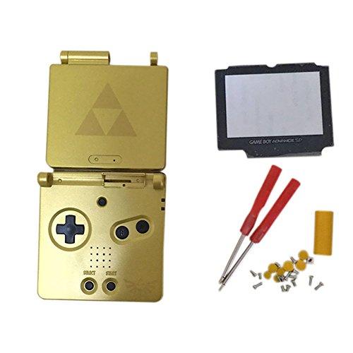 Meijunter Reemplazo Cubierta de la carcasa Housing Shell Case Cover con Lente de cristal de la pantalla & Destornilladores para Nintendo Gameboy Advance SP GBA SP Consola (edición limitada)