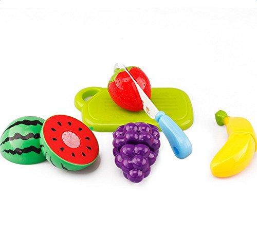 jingyuu Juguetes Cortar Frutas Verduras,Juego de Juguetes de Cocina para niños