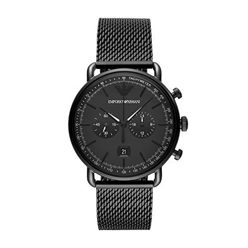 Emporio Armani Herren Chronograph Quarz Uhr mit Edelstahl Armband AR11264