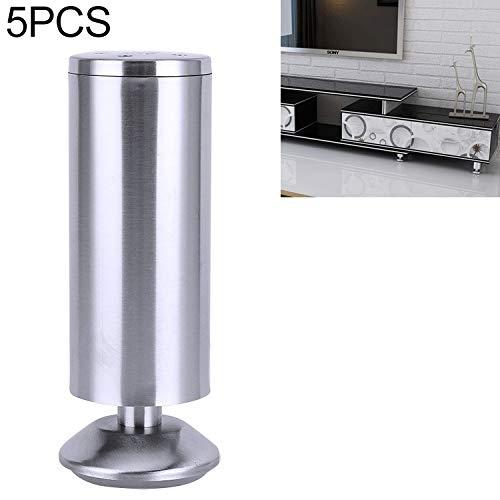 Steunvoetje hardware verdikt toegenomen zilver dragende sterke steunpoot rek geborsteld roestvrij staal verdikte cilindrische sofa benen meubilair kast high-end geborstelde ronde poten bar TV-meubel h