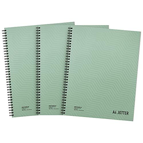 Summit Jotter, cuaderno metálico A4, encuadernado con alambre, forrado, 200 páginas, paquete de 3