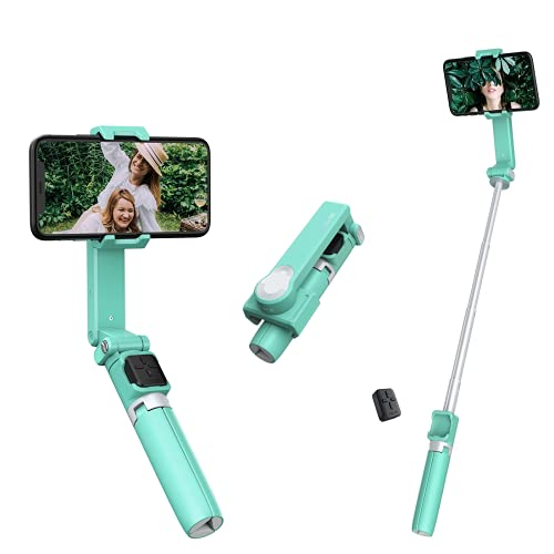 Moza Nano SE Palo Selfie Trípode Bluetooth, estabilizador Inteligente antivibración Selfie Gimbal Extensible 27 Pulgadas Compatible con iPhone/Samsung/Huawei y más, Verde