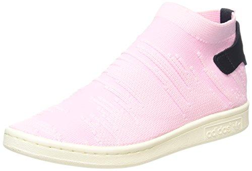 adidas Damen Stan Smith Sock Primeknit Sneaker, Pink (Wonder Pink/Wonder Pink/Core Black), 41 1/3 EU