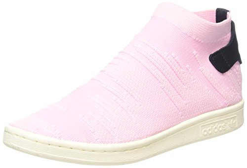 adidas Damen Stan Smith Sock Primeknit Sneaker, Pink (Wonder Pink/Wonder Pink/Core Black), 41 1/3 EU
