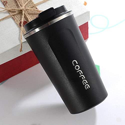 510 ml roestvrijstalen bekers koffiemok reisfles mok koffie melk vacuüm kolven voor auto flessen water mok geïsoleerd, zwart, China