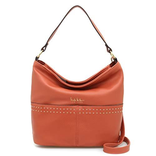 Nicole Miller Handbags Cindy Large Hobo in Rustic Orange