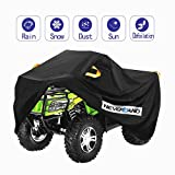 NEVERLAND ATV Cover Oxford Cloth Heavy,for Polaris Sportsman Yamaha Grizzly Honda FourTrax Kawasaki KFX Wheel Car with Air Vents Reflective Strips and Buckle Straps length up to 82 inches