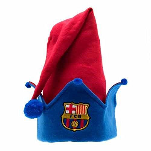 Club Licensed Barcelone elfe de Noël Chapeau Taille unique rouge/bleu
