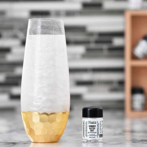 Edible Glitter for Drinks • Shiny Silver Glitter, Shimmer Beverage Dust for Cocktails, Beer, Wine and More - Original Silver - 3 gram Shaker