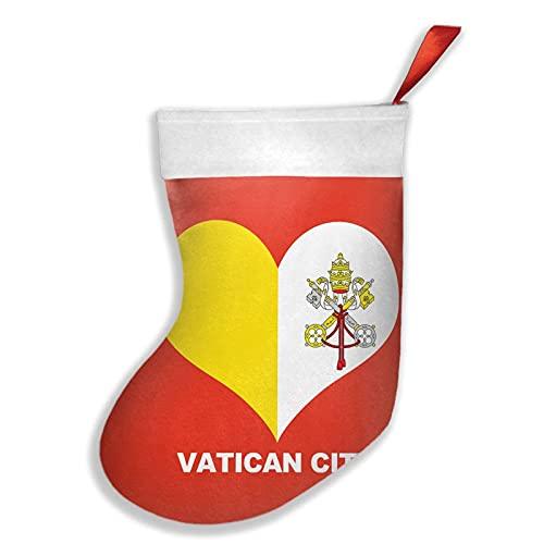 Città del Vaticano Calze di Natale in morbido peluche rustico personalizzato decorazione per la decorazione 43,2 cm