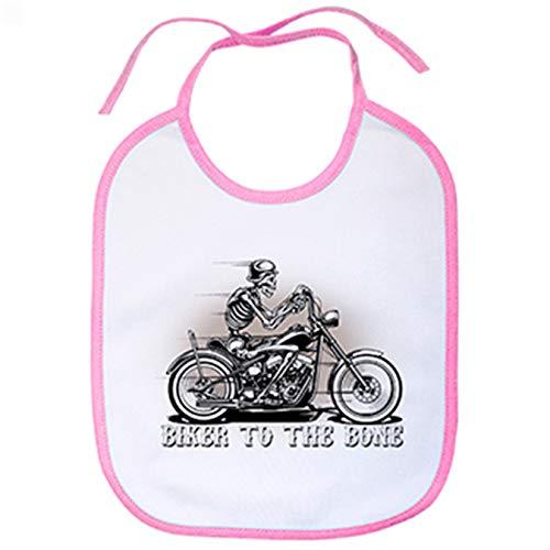 Babero para moteros Biker To The Bone - Rosa
