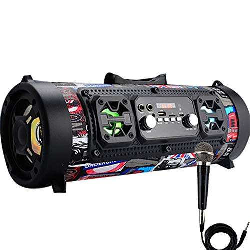 QAR Bluetooth-luidspreker, draadloos, hoge prestaties, met microfoon, kaart, subwoofer voor auto, dansradio, vierkant, graffiti-audio