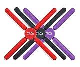 Contiup - Juego de 3 salvamanteles de silicona antideslizantes y plegables para cocina o hogar