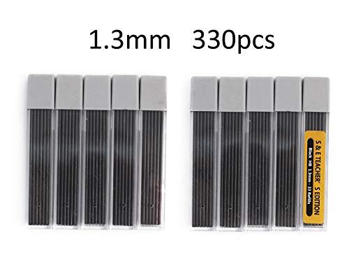 S & E TEACHER'S EDITION 330 Pcs 1.3mm HB Mechanical Pencil Lead Refills, 10 Tubes, 33 Pcs/tube.