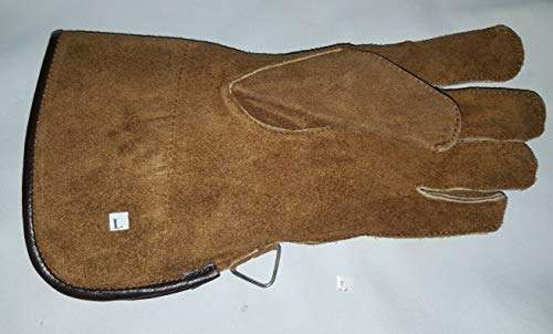 Falconry Handschuh, einlagig, Wildleder, 30,5 cm lang, Sinopia Brown
