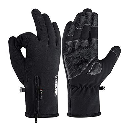 Winter Gloves Ski Gloves Snow Gloves Cold Weather Gloves Touch Screen Gloves (L)