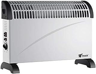 Thulos Calefactor convector con Turbo Ventilador, 3 ajustes de Temperatura 750W / 1250W / 2000W TH-CH2001