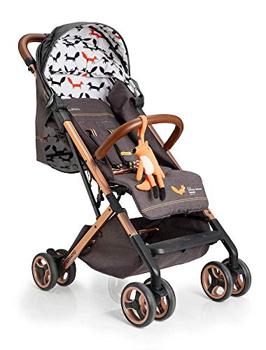 Cosatto Woosh XL Pushchair – Compact Stroller From Birth To 25kg, Lightweight, Easy Fold (Mister Fox)