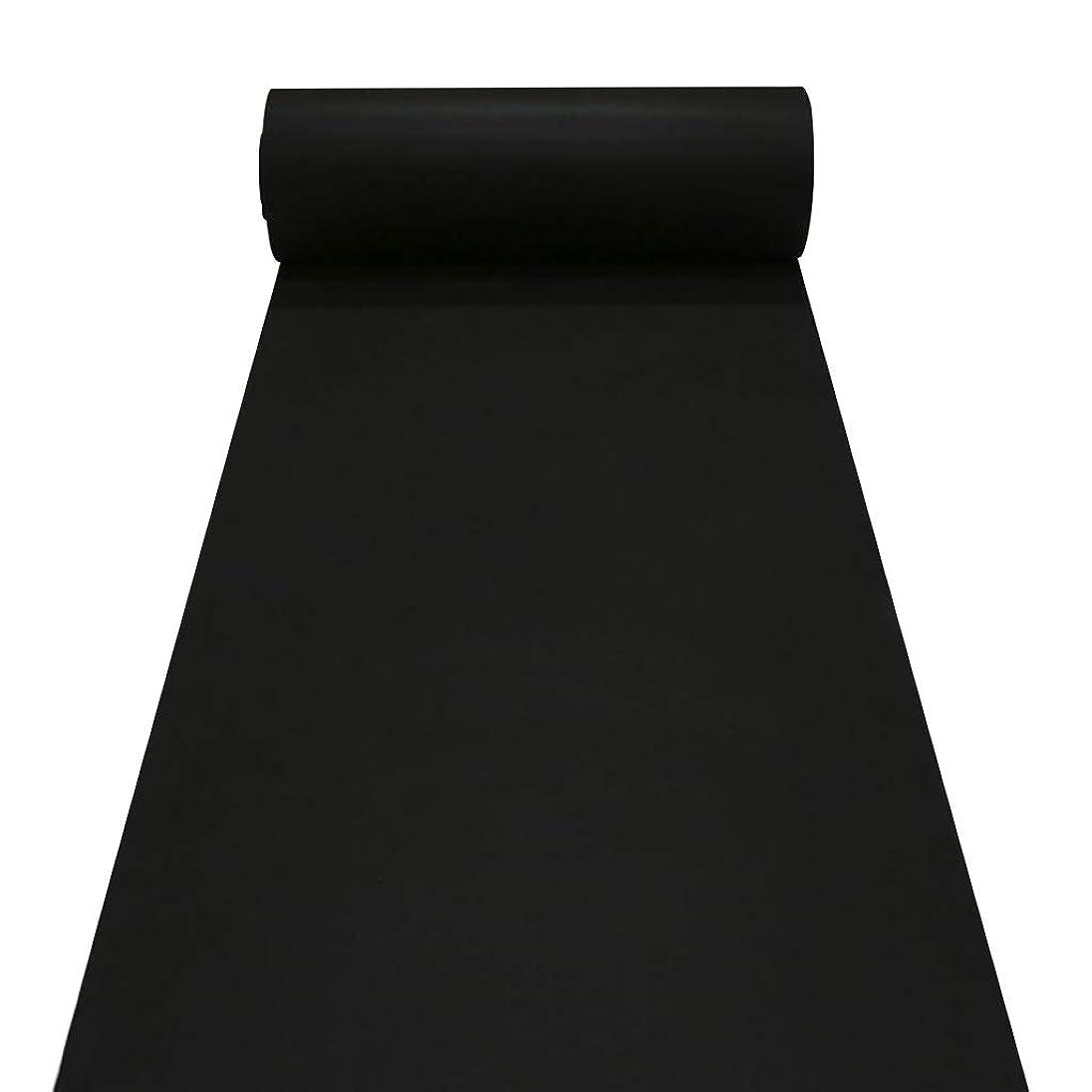 リットル農奴電子黒い通路ランナー、教会のための安いランナーの敷物、廊下、階段、2 mm薄い結婚式のランナー両面 (色 : ブラック, サイズ : 1.2m×20m)