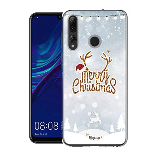 Yoedge Honor 10i Hoes, Hoesje transparant met Patroon for Honor 10i Kerstmuts