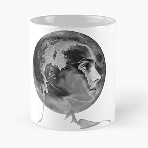 Kaffeetasse aus weißer Marmor-Keramik mit der Aufschrift