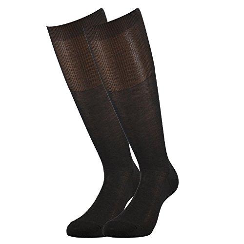 Fontana Calze, 6 paia di calze UOMO lunghe in 100% Cotone Filo di Scozia. TESTA DI MORO TG 42/44,5