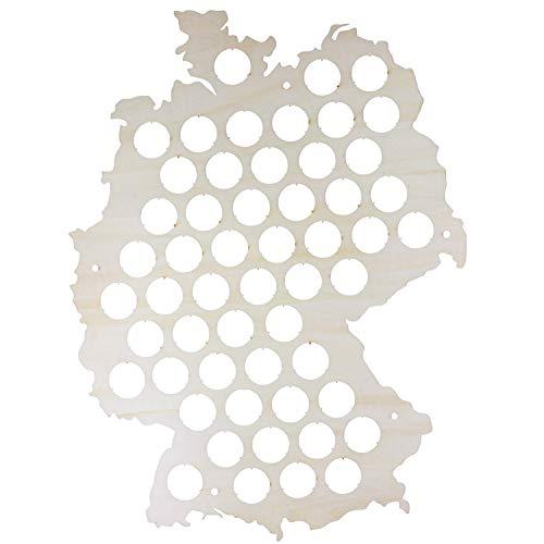 SAFE Bier Karte Deutschland | Geschenke zum Jahrestag für ihn | Nur für echte Kronkorken Sammler | Ideale Männergeschenke zum Geburtstag (Hell)