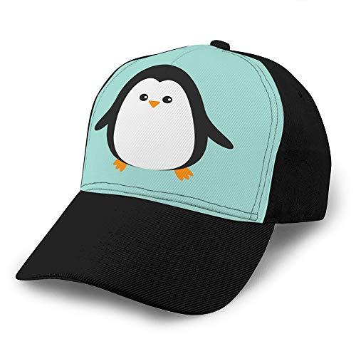Classic Unisex Baseball Cap Verstellbare niedliche Pinguin-Zeichentrickfigur Arctic Animal Ball Cap