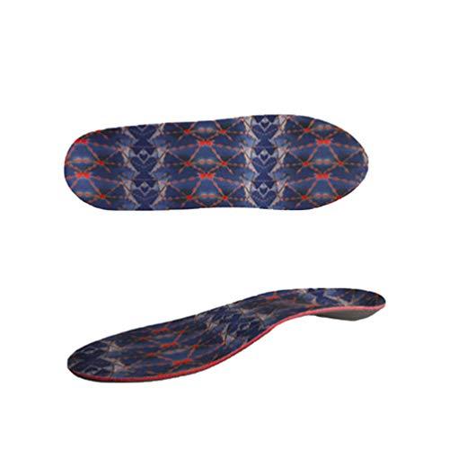 Heallily 1 Paar Fußgewölbe Einlegesohlen Schuheinlagen Einlegesohlen Plattfußeinlagen Fußgewölbe Einlegesohlen für Plattfüße Plantarfasziitis Schwarz Größe S