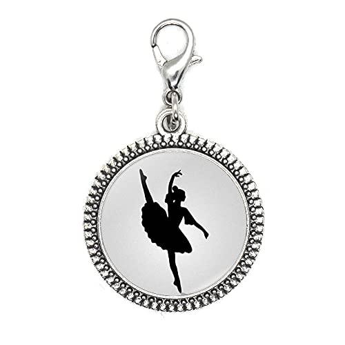 Tirador de cremallera de bailarina, tirador de cremallera de ballet, encanto de danza de ballet, regalo de fantasía, regalo de recital de danza, encanto de ballet: JV161