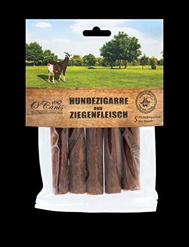 O´Canis Hunde-Zigarre aus Ziegenfleisch 1x 5 Stück - New 2cm mehr Fleisch !