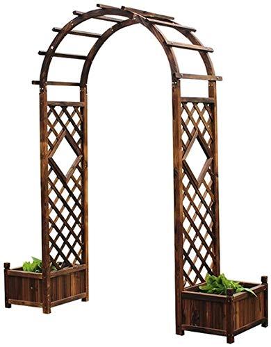 ZSEFV Garden Arbor, Garden Planter Box, Climbing Planting Patio Decoration, Wood Over High Outdoor Patio Pergola Trellis