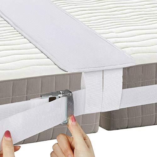 Kit convertidor de puente de cama individual a King – Relleno de puente de colchón para camas individuales – Conector de cama doble King Maker