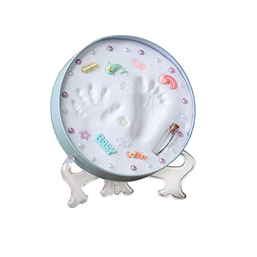 Yhjkvl Baby-Fotorahmen Baby-Hand-Fuß-Fuß-Rahmen Kit Soft-Sicher Geprägte Lehm ultimative Neugeborenes Baby-Geschenk Baby Foto Andenken (Color : Photo Color, Size : One Size)
