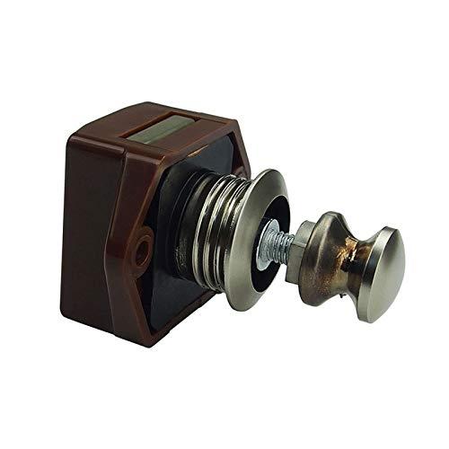 LULIJP Rarelock 5pcs / Lot de plástico de 20 mm de diámetro RV/Caravana/Barco/Autocaravana/Armarios Mini botón de Bloqueo push-ZS01 BN AA