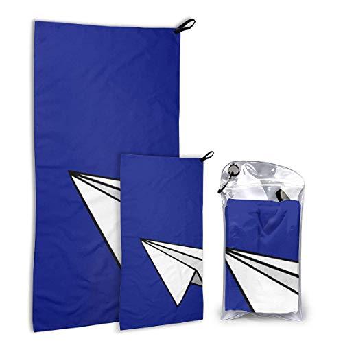 fengpengsd FunnyStar sneldrogende microvezel campinghanddoekenset voor wandelingen, reizen, kamp, rugzak, groot 140cm x 70cm - klein 80cm x 40cm - zacht, super absorberend, gratis draagtas, papieren vliegtuig
