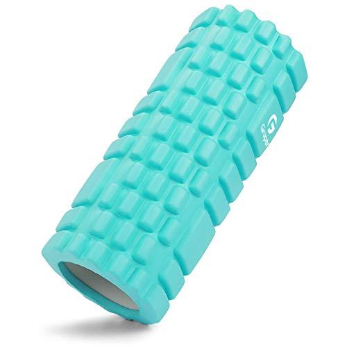 Foam Roller, Myofascial Release, KOOLSEN Grid Foam Roller, Yoga Poles, Training, Sports, Fitness, Stretching Equipment (Green)